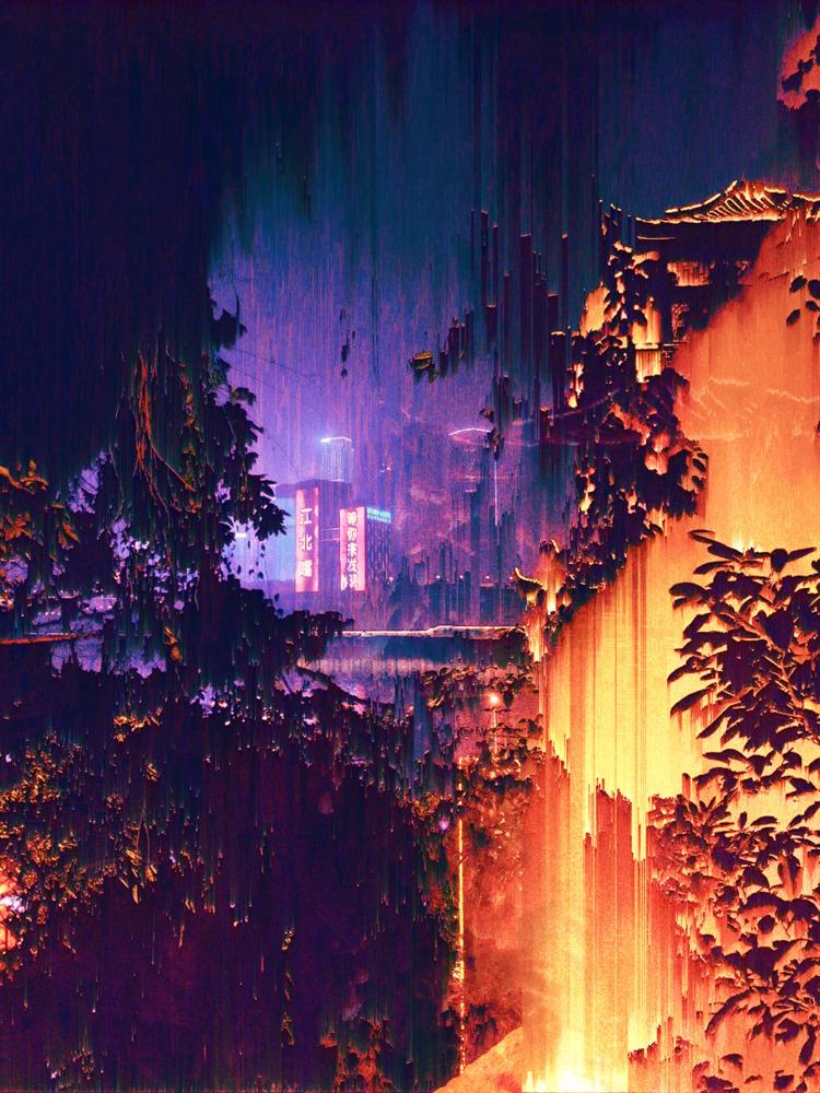 fire - glitchart, glitch_art, pixelsorting - theraflux | ello