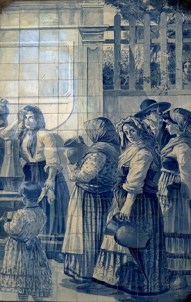 Gare de Porto , azulejos dans l - gclavet   ello