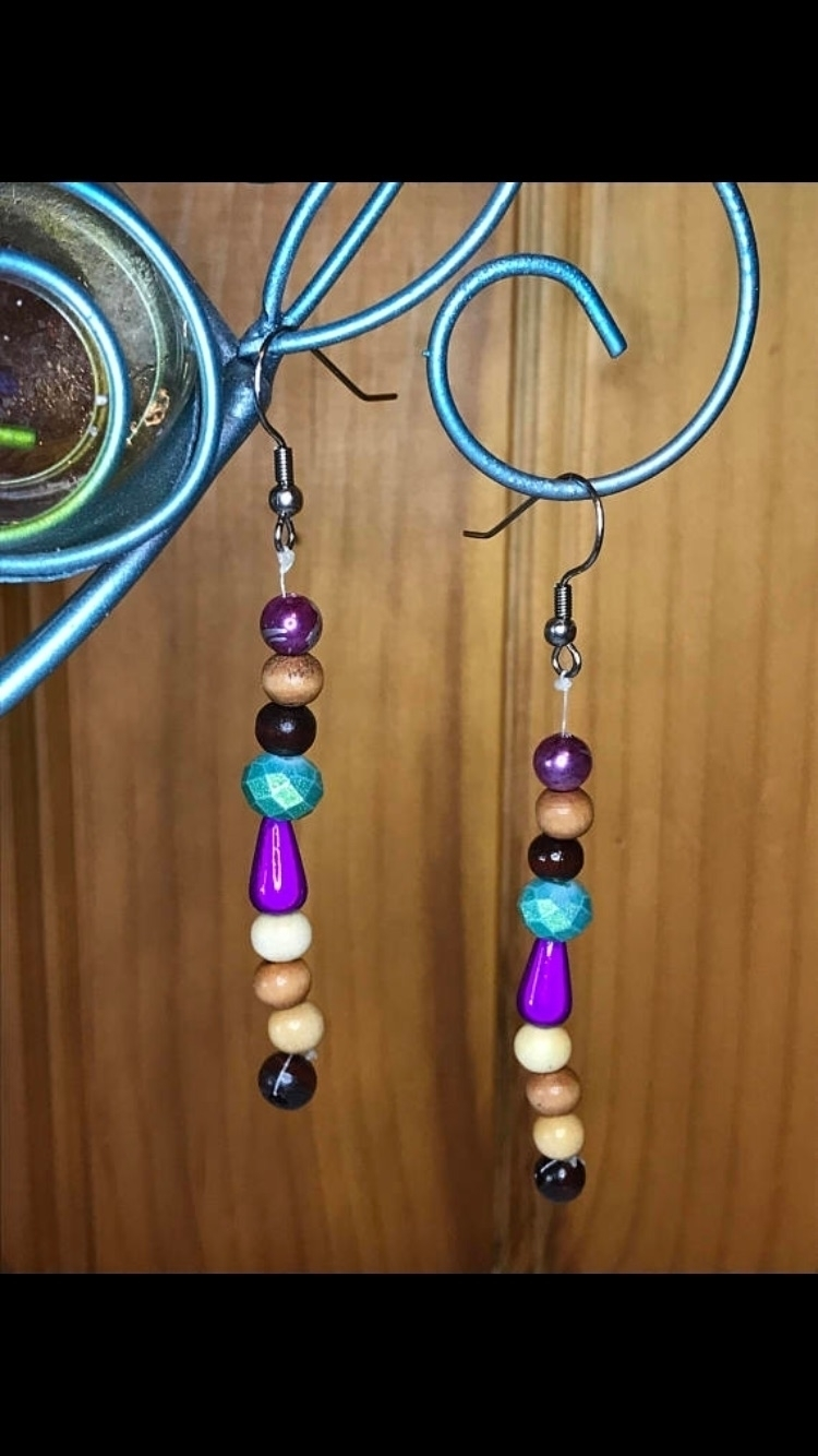original dangle earrings. acryl - jenniferscraftdesign | ello