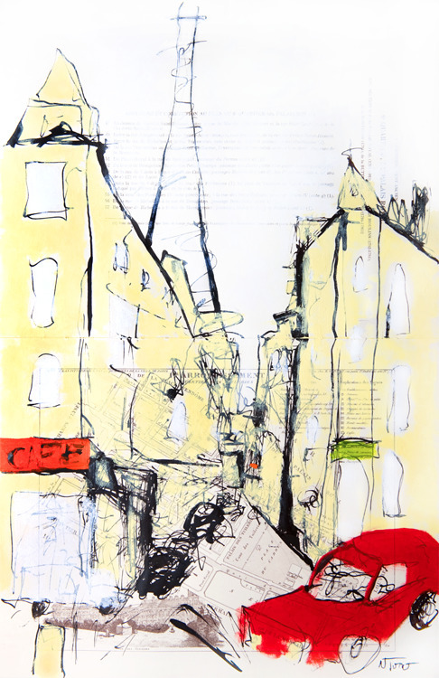 Rue Saint-Dominique, Paris Oil - nealturner | ello