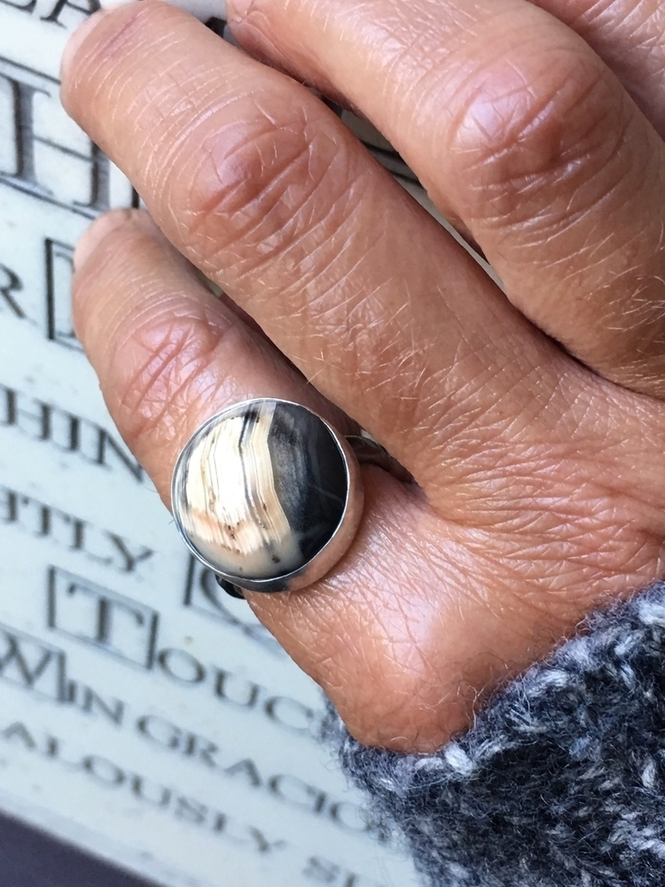 Botswana Agate Ring 🖤 - agate, ring - cupidsmoonjewelry | ello