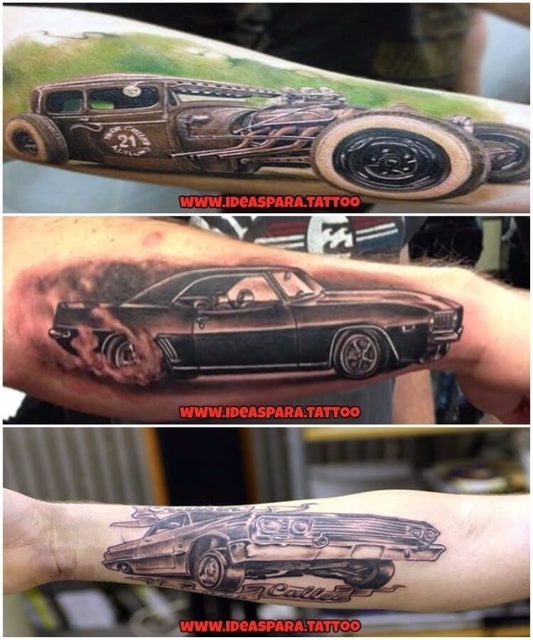 Los mejores tatuajes de coches  - ideasparatattoo | ello