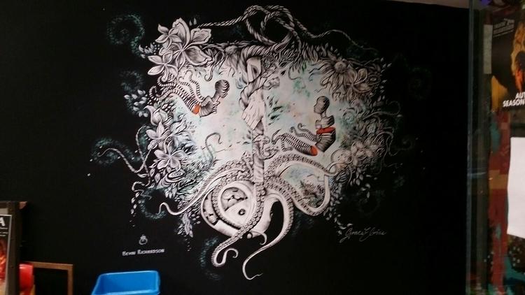 mural Fem Sorcell theatre delic - bevinrichardson | ello
