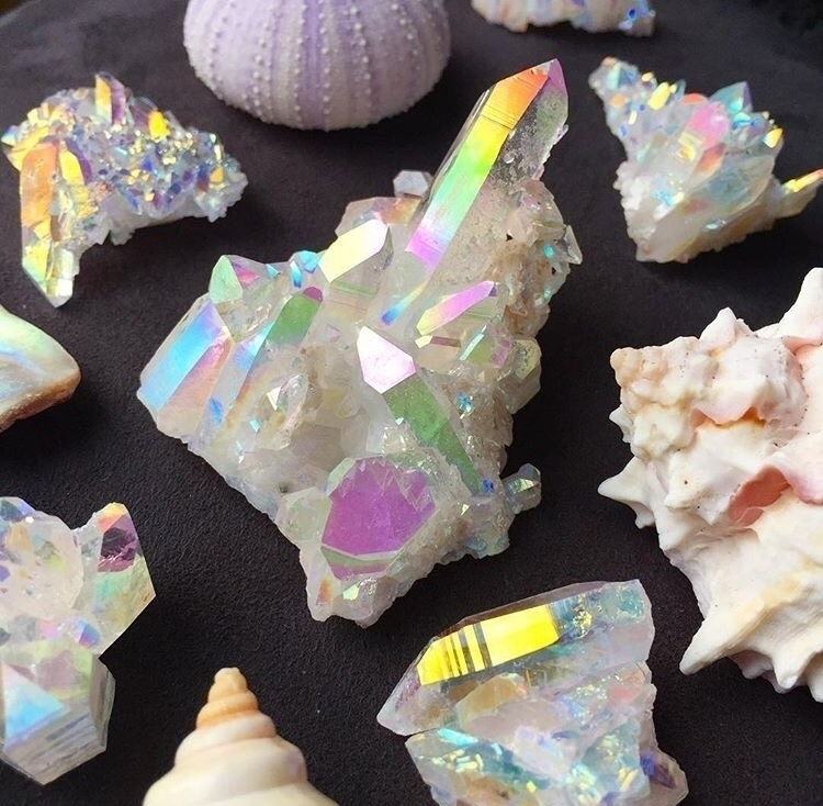 Rainbows sea shells great combo - midnightauracrystals | ello