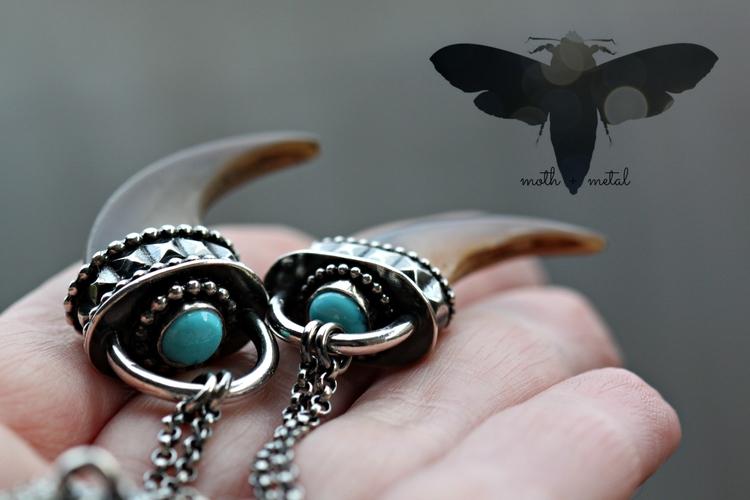 Canadian Black Bear Claw pendan - mothmetal | ello