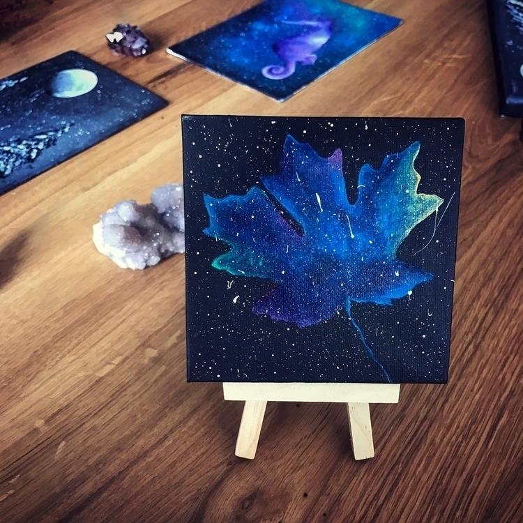 galaxies dream - space, galaxy, leaf - everjupiter | ello