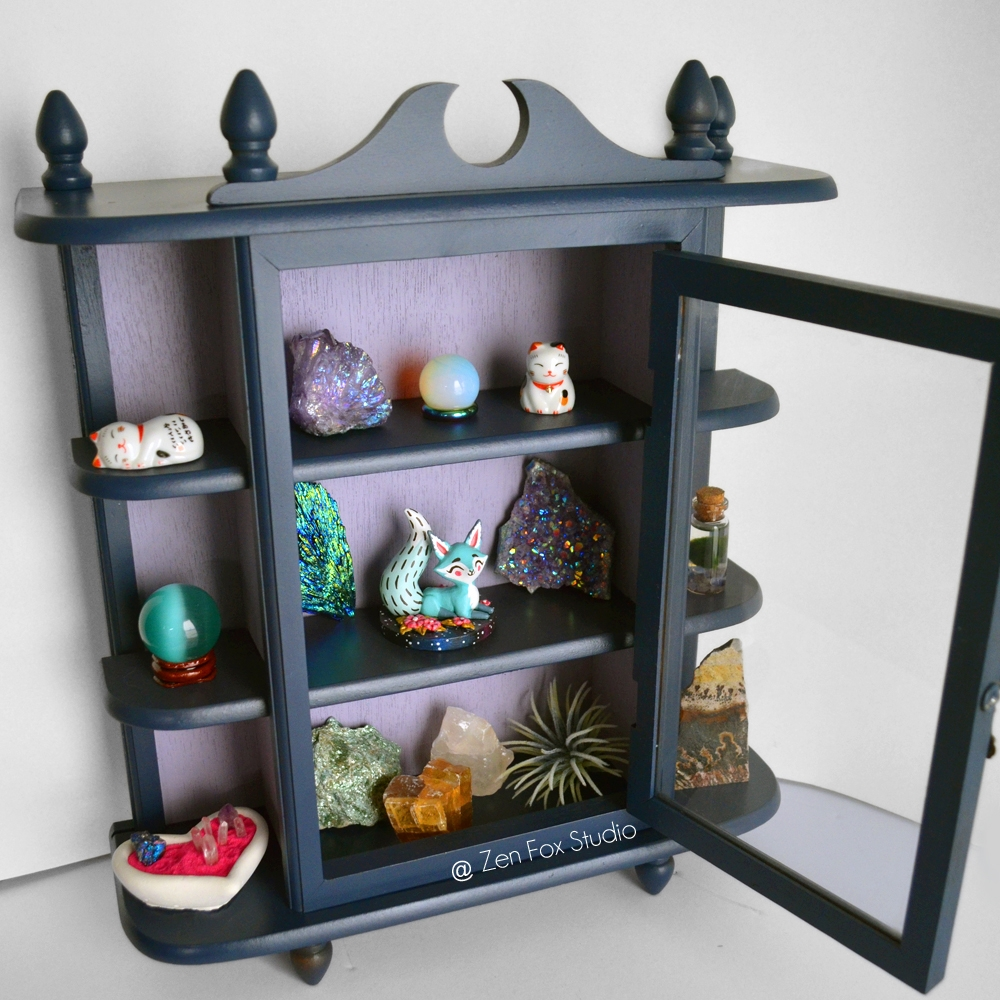 Repainted Curio Cabinet intenti - zenfoxstudio   ello