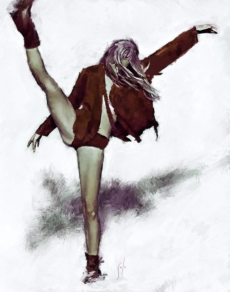 Kick Painting solo. http://www - soloartwork | ello