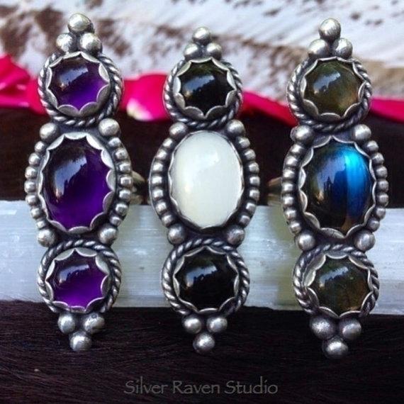 Silver Raven Rings 'La Trois Co - silverravenstudio | ello