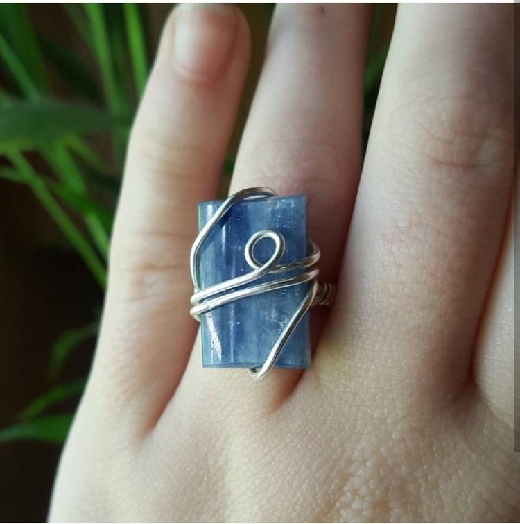 lovely blue Kyanite ring shop!  - kiraskycreations | ello