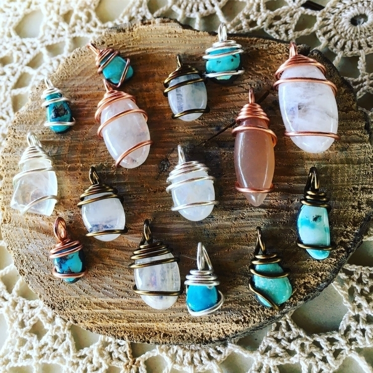 Moonstones turquoise - gems, jewelry - mermaidtearshawaii | ello