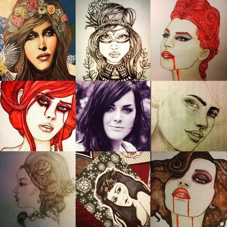 ladies years - art, girls, portrait - bonidutch | ello