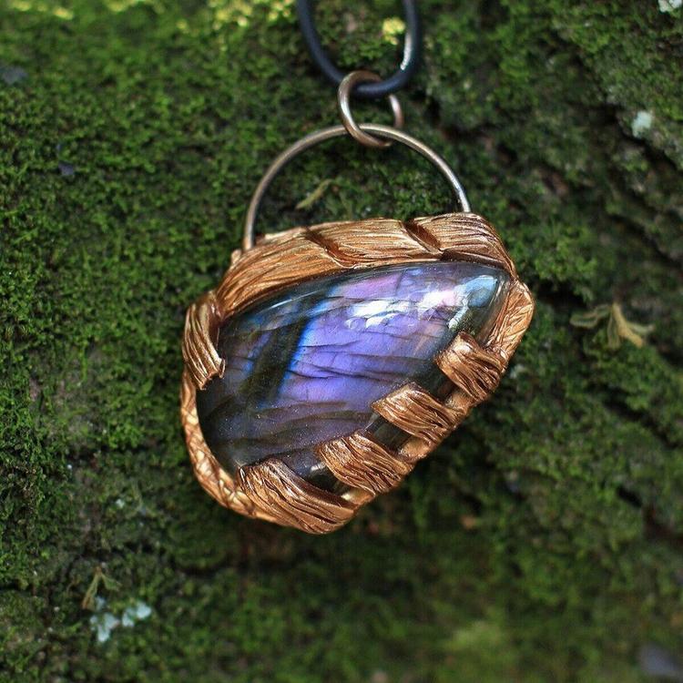 Purple Labradorite Pendant, sho - denderalight | ello