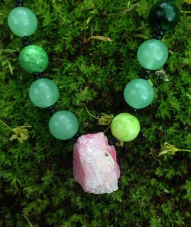 Multi Green Dyed Pink Quartz Ch - elishaz | ello