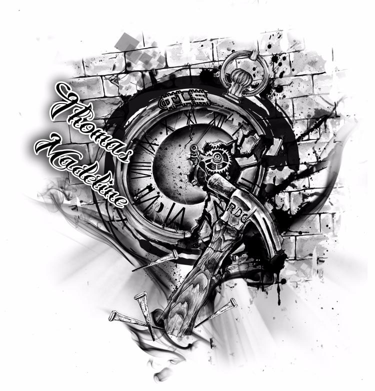 Custom Tattoo Design client - inked - ibreathart   ello