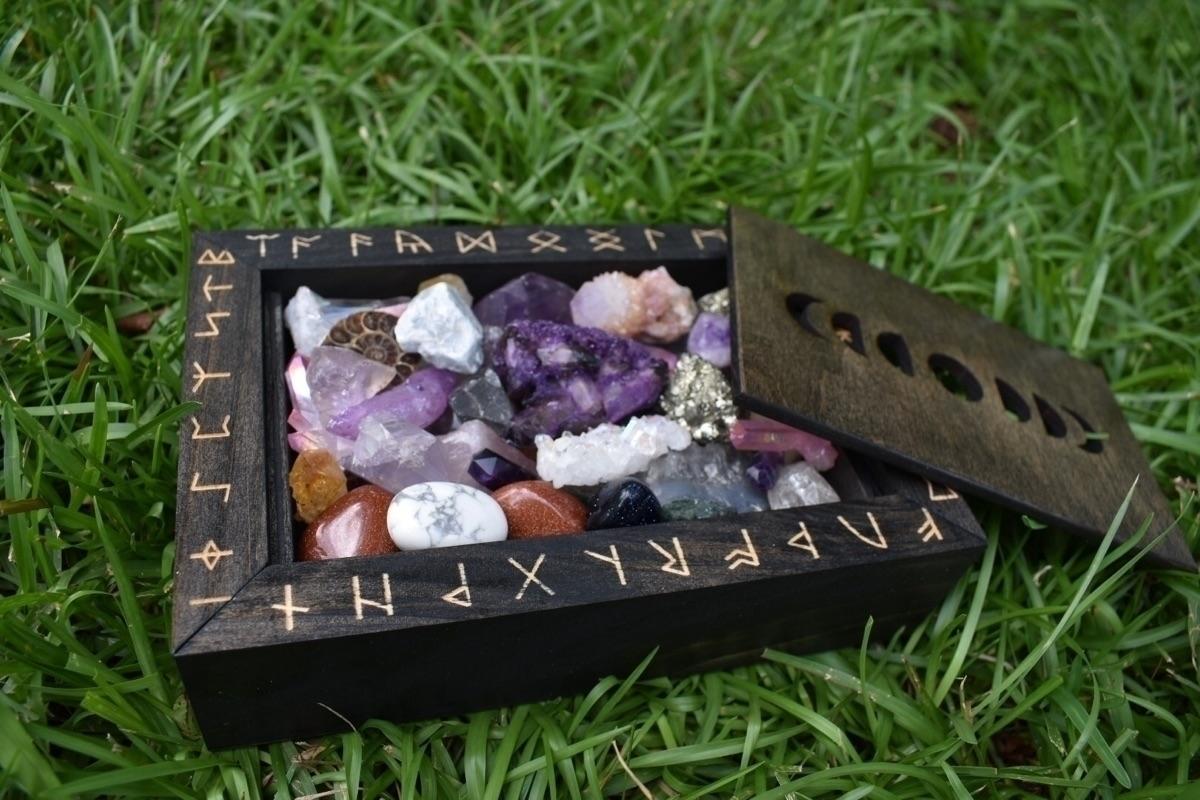 Rune Moons inset lid boxes Etsy - jdrewsilvers | ello