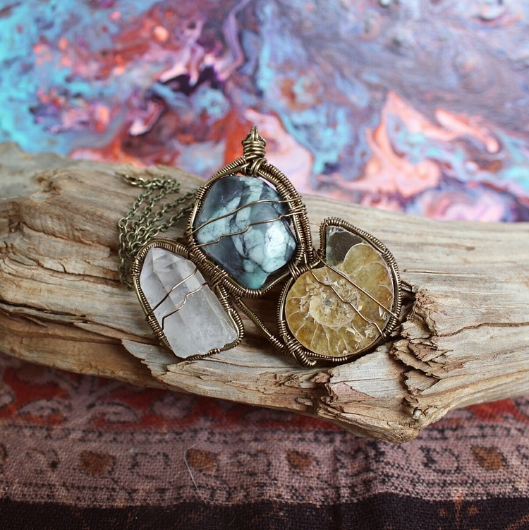 pendant wrapped design. love fe - moongoddessvibes | ello