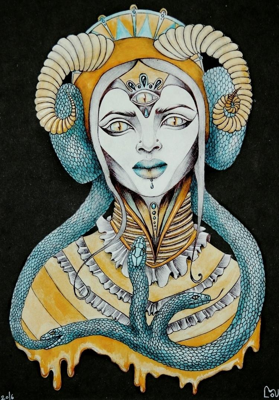 Ouroboros - goddess, ouroboros, mixedmedia - plaatina | ello