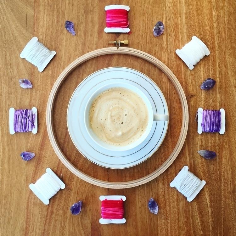 Coffee crystal grid happy Sunda - crystalembroidery | ello