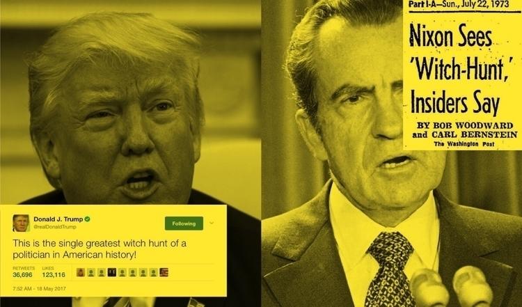 Nixon moment Trump - witchhunt, trumprussia - joshua_berger | ello