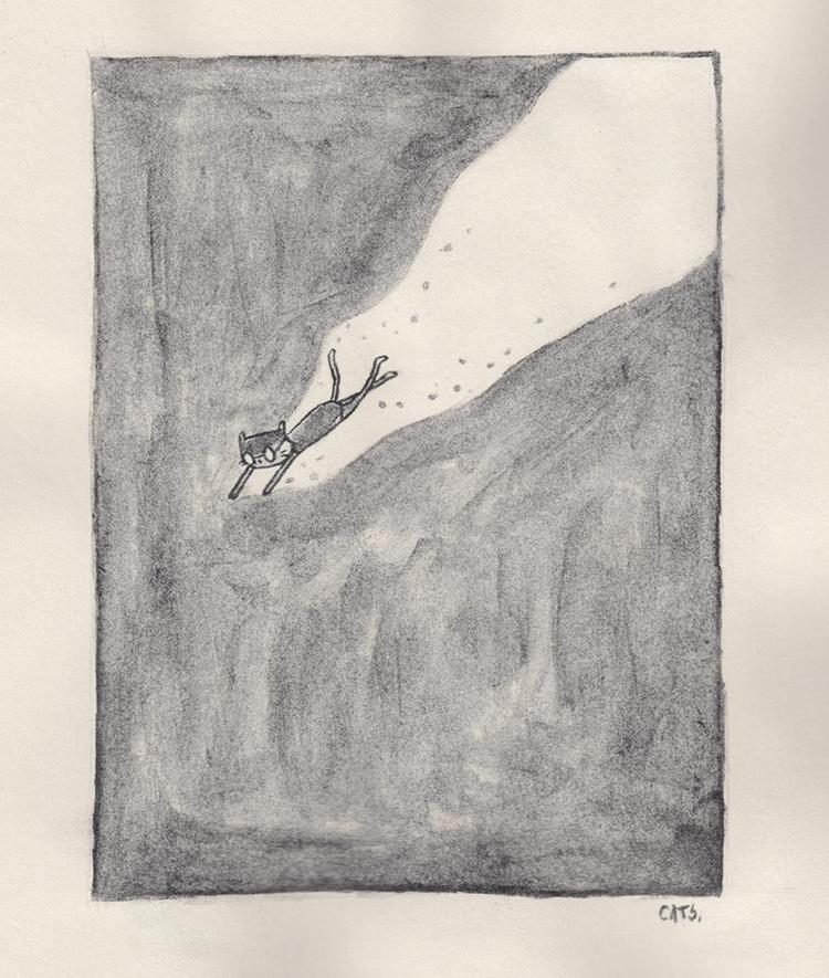 narrowing - watercolour, graphite - catsac   ello