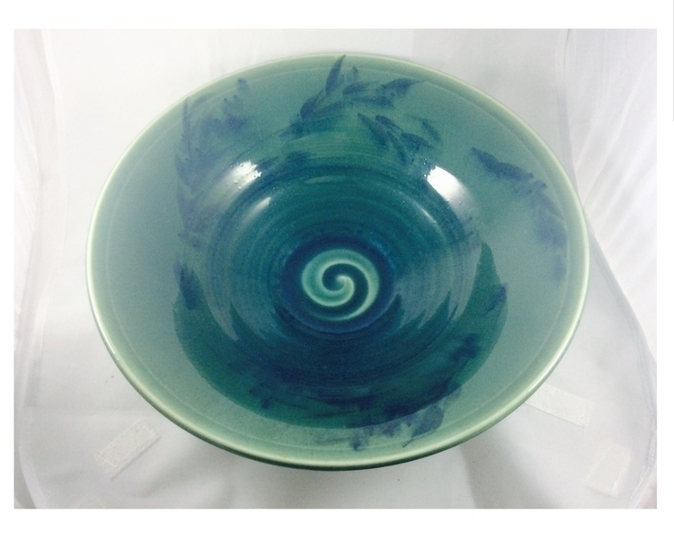large green glazed bowl - ateliercrafers | ello