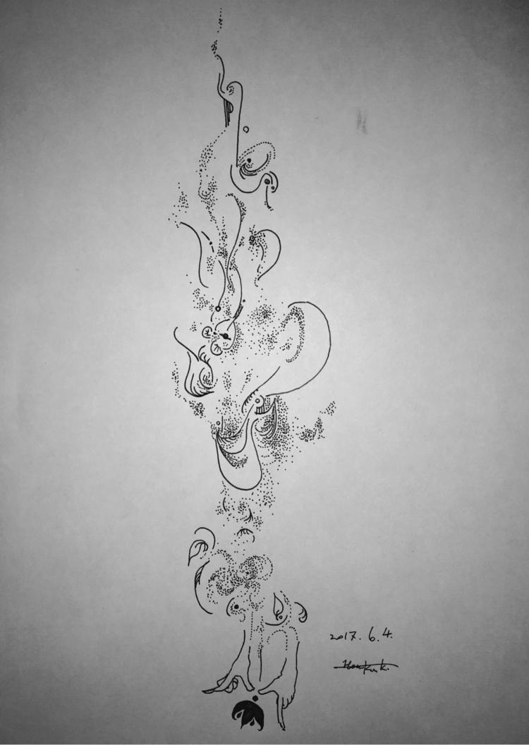 drawing, pen, surrealism - themartiansgirlfriend | ello