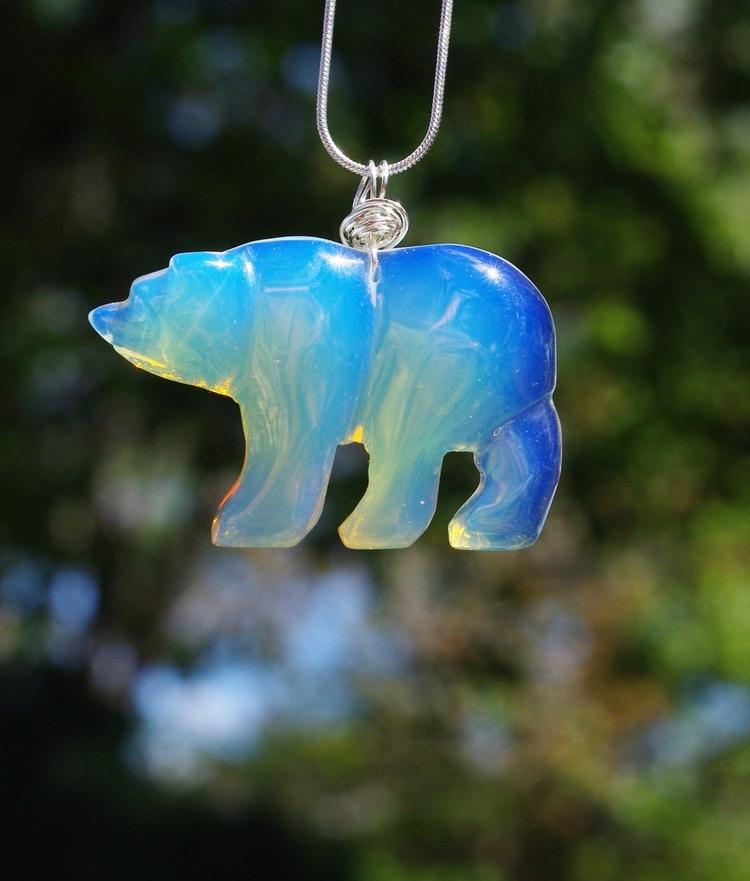 Opalite polar bear necklace col - audacitywear | ello