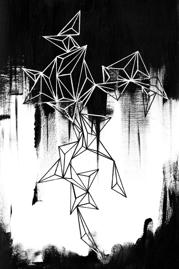 Light - geometric, painting, mixedmedium - caitiluke | ello