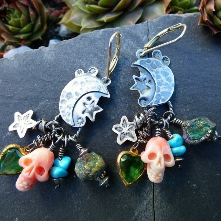 Fun Moon Stars earrings mixed b - alleyec | ello