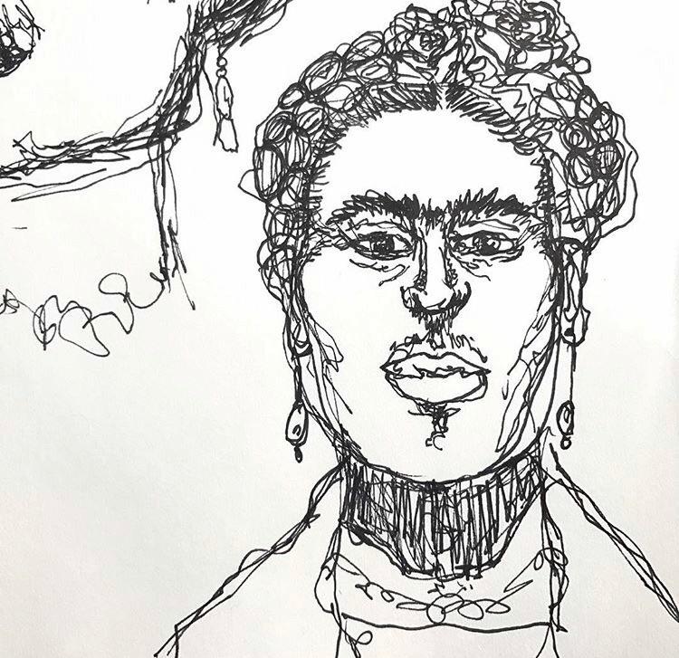 Frida Kahlo Pen marker doodles - vp-art   ello
