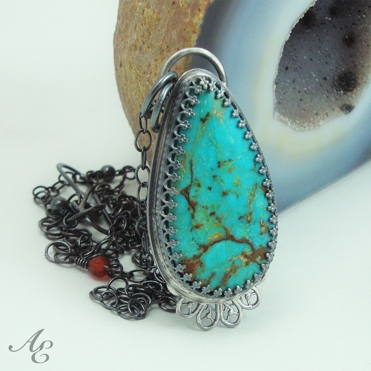 SALE - Turquoise Sterling Silve - amyestellemetalworks | ello