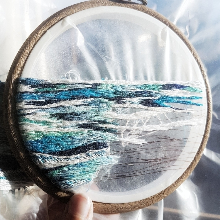 wip - embroidery, fiberart, textileart - fullmetalneedle | ello