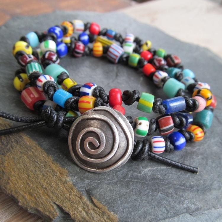 Wrap colorful African trade bea - artdi | ello