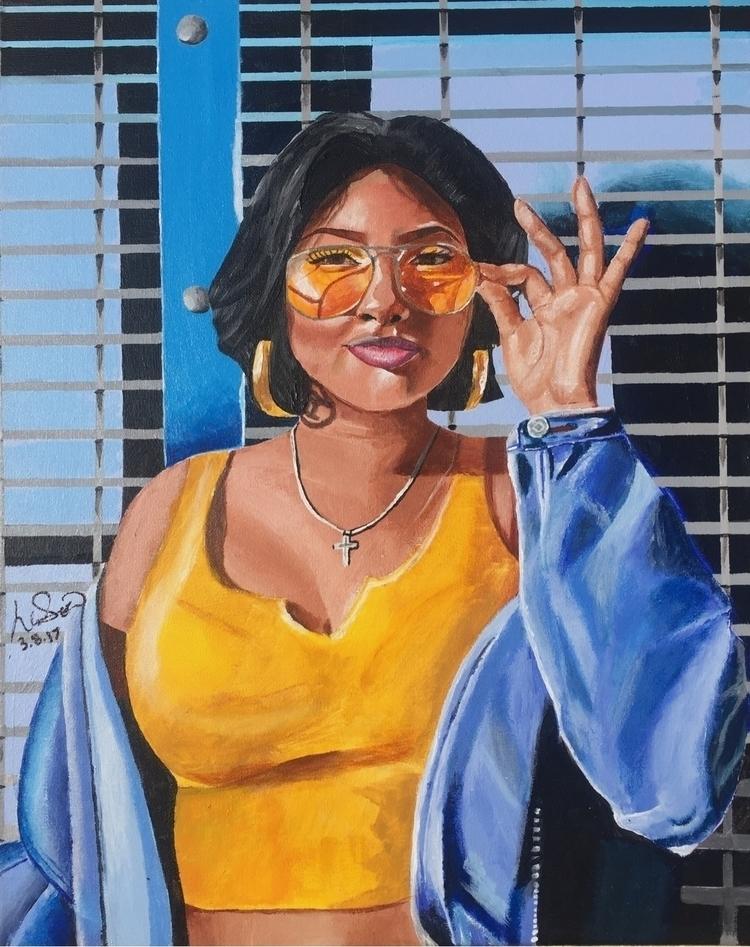 Deandra 16x20 acrylic canvas - lordlili | ello