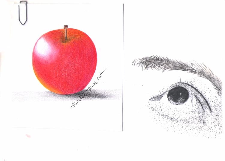 Eat apple! Pencil/ Nanny - micmazi | ello