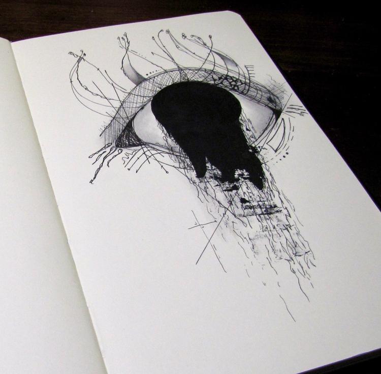 Sketchbook drawing | Ink, graph - caitiluke | ello