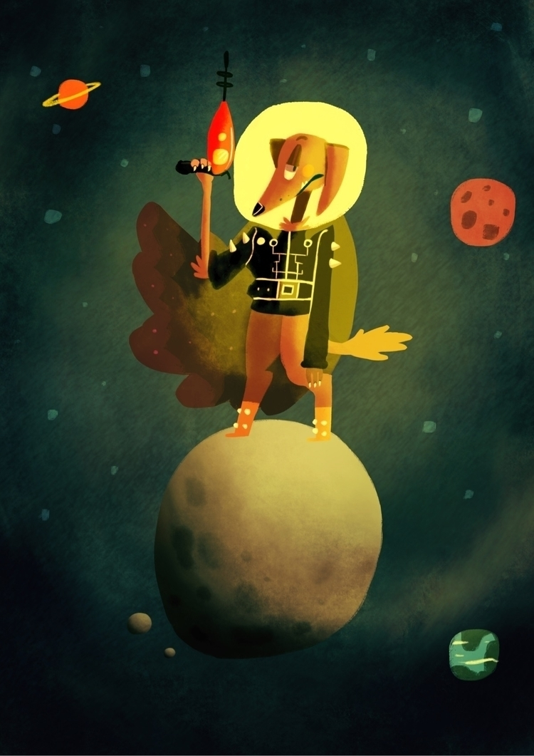 Space outlaw - illustration, animal - ofmutations | ello