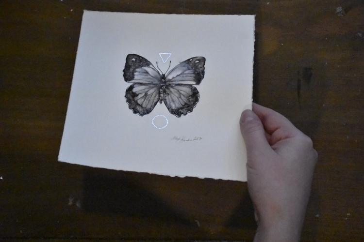 ink, painting, silver, gilding - alexakarabin | ello