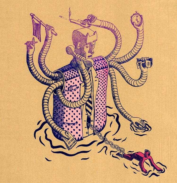 Serigraphy, illustration, Slave - tomrouleau | ello