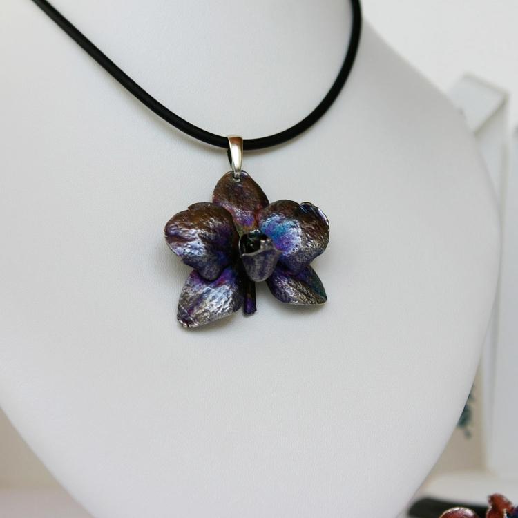 Orchid. Pendant. Silver - nature - ipomoea_purpurea | ello