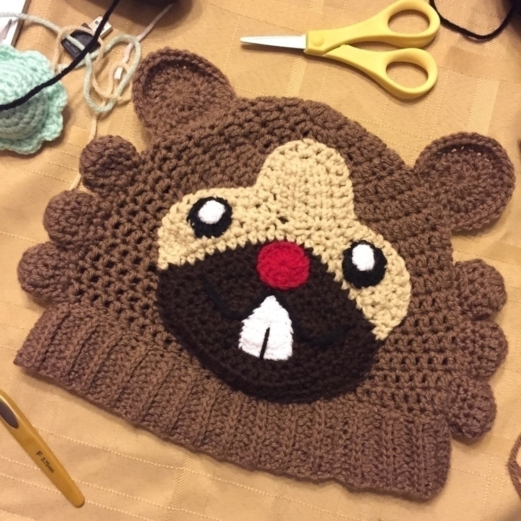 finished bidoof beanie customer - yarncircus | ello