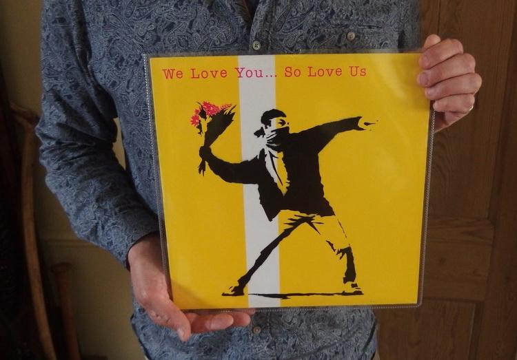 vinyl finds - sleeves Banksy - head-gardener | ello