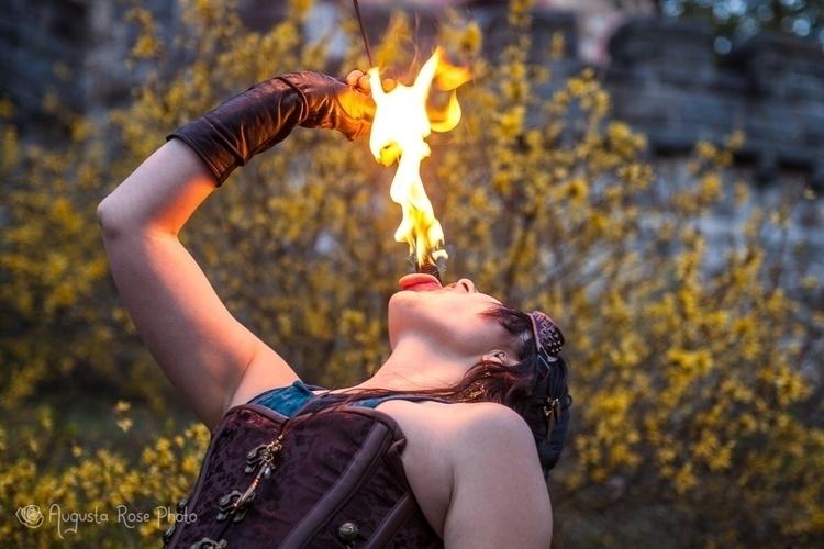 Eating fire castle! Augusta Ros - fireflycaravan | ello