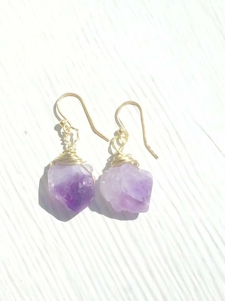 Tigers eye Amethyst earrings ($ - hempbykayla | ello