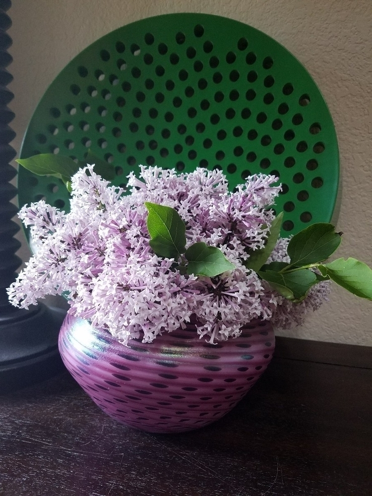 Garden lilacs blown glass vase - asmallruckus | ello