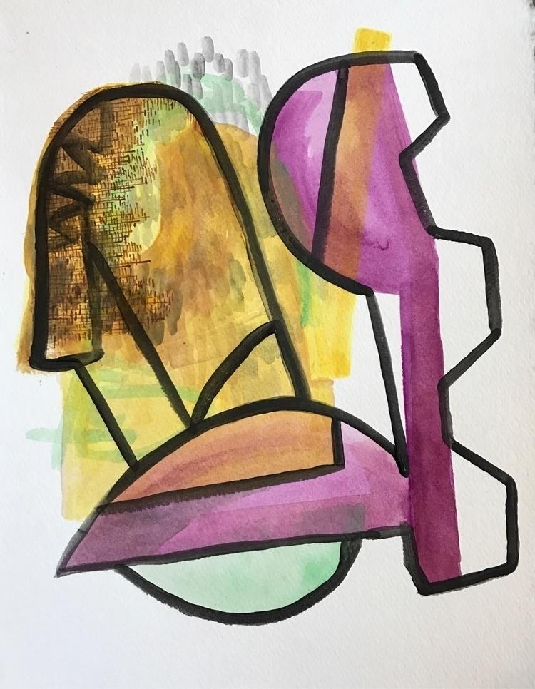 034 Acrylic paper 11x14 - daily - jaredpattonplock | ello