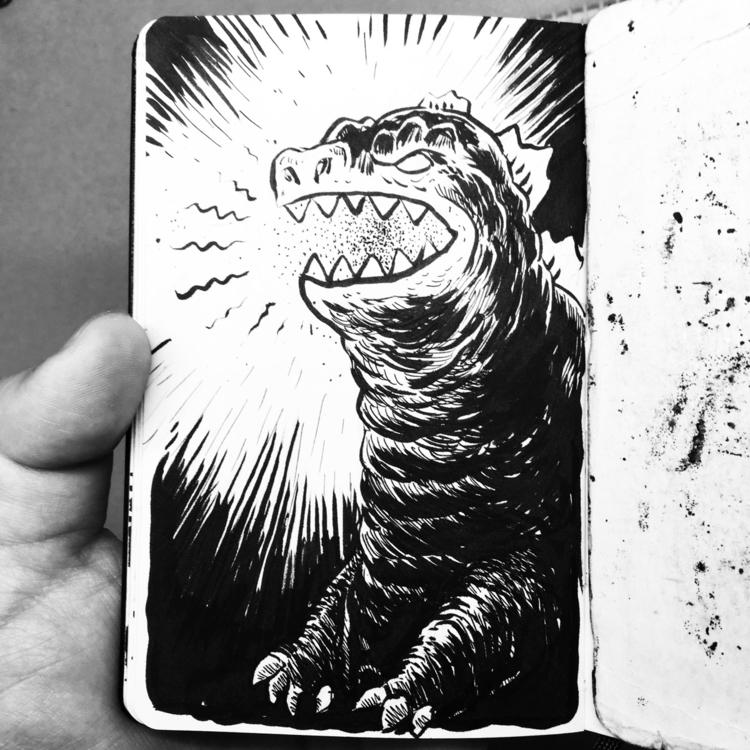 Godzilla - kaijune, kaiju, godzilla - royallyeric | ello