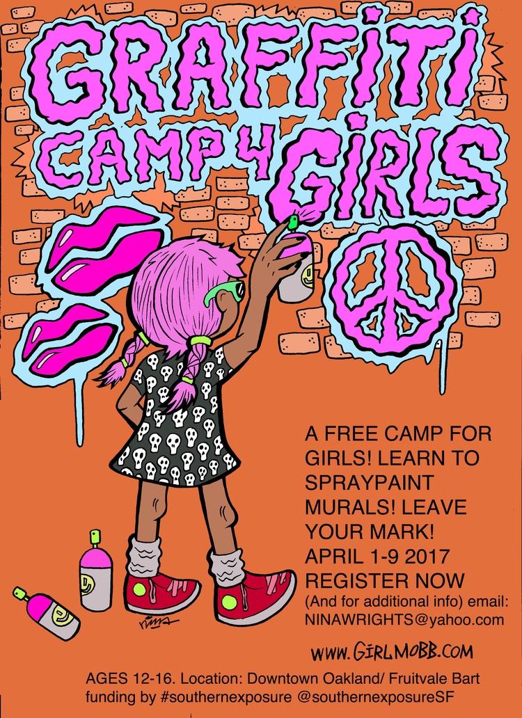 Flyer Graffiti Camp Girls  - graffiticampforgirls   ello