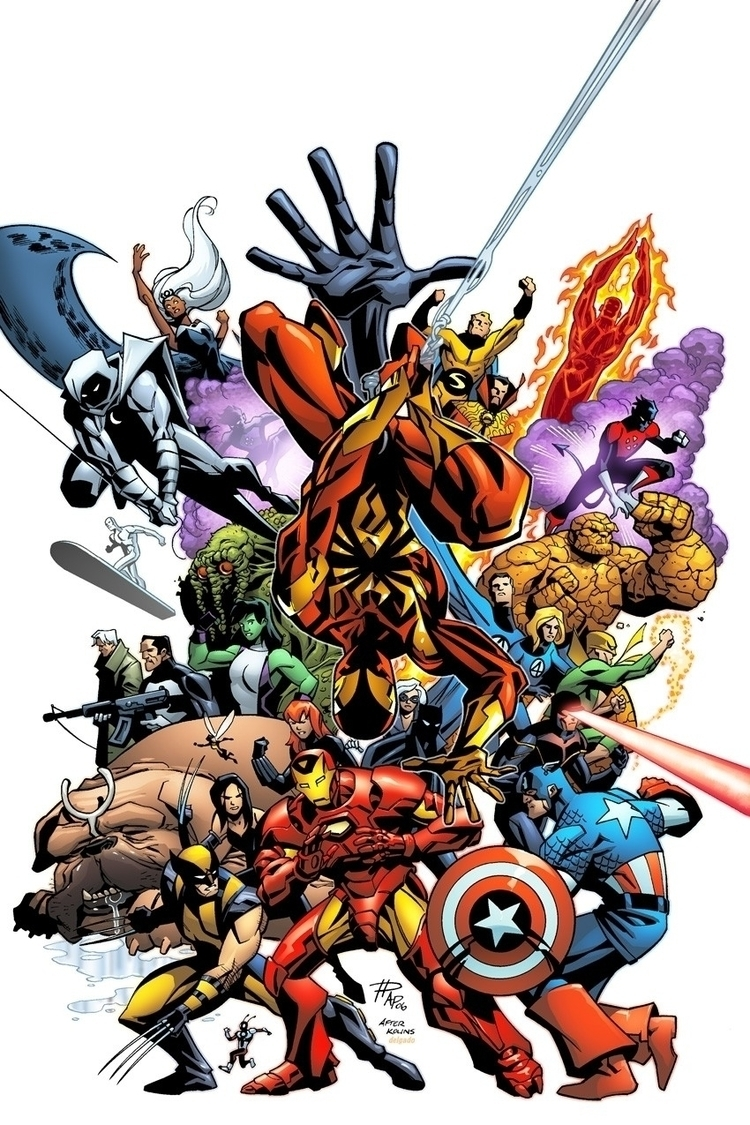 marvel, comics, ironman, art - hammythegamegeek | ello